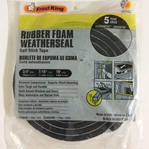 Frost King Rubber Foam Weatherseal Self Stick Tape